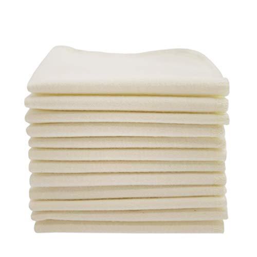 ImseVimse 12 waschbare Reinigungstücher aus Baumwolle (Natural)