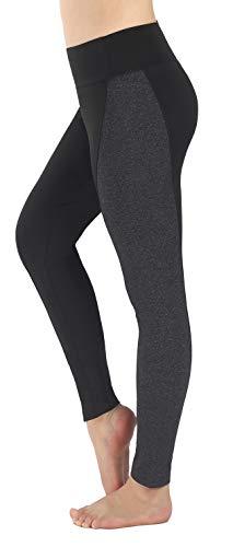 Neonysweets Womens Running Yoga Pants Workout Leggings with Pocket Black Gray M