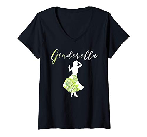 Mujer Ginderella | Let the evening begin | Gin Gift idea | GIN Camiseta Cuello V