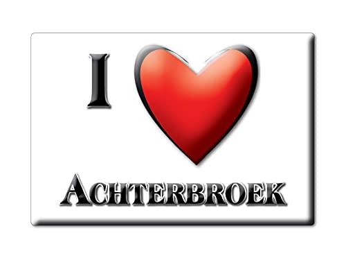 ACHTERBROEK (H) FRIDGE MAGNET NETHERLANDS ZUID HOLLAND SOUVENIR I LOVE GIFT PRESENT