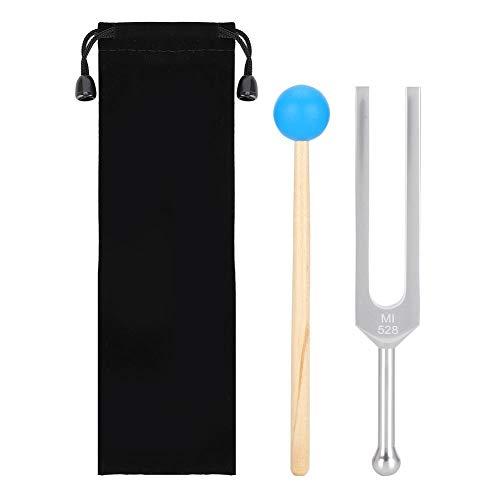 Stimmgabel, 528Hz Aluminiumlegierung Holzhammer Für Studenten Der Krankenpflege, 528Hz Tuning Fork For Stimmgeräte Medizin Und Musik Asmr Tool