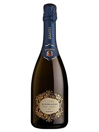 VALDOBBIADENE Prosecco Superiore DOCG Extra Dry - Santi - Vino bianco spumante 2020 - Bottiglia 750 ml