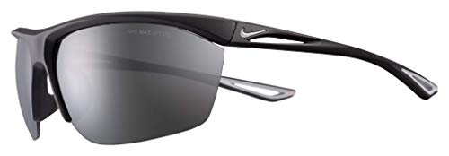 Nike EV1106-001 Tailwind S Sunglasses Matte Black/Wolf Grey Frame Color, Grey with Silver Mirror Lens Tint