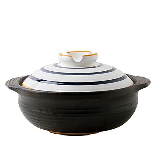CeráMica Hot Pot Casserole Casserole Casserole Casserole Stef Pot Cocina Pote De Gres Antigua Moda CeráMica Pot Subglaje-2.3L