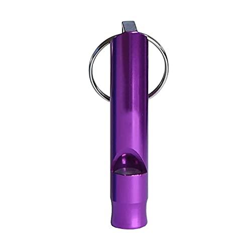 LIUCHUNYANSH Silbato Supervivencia Equipo de Emergencia de Silbato de Survival Outdoor Survival Survival Silbillo de un Solo Tubo aleación de Aluminio (Color : Purple)
