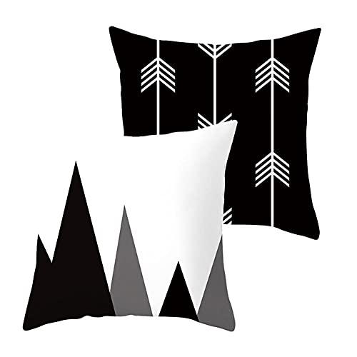 2 pcs Fundas de Cojín Decorativos Triángulo Cuadradas Terciopelo Suave Funda de Almohada Cubierta para Cojines Sofá Sala de Estar Dormitorio Habitación Decor Throw Pillow Case J305 Pillowcase_50x50cm