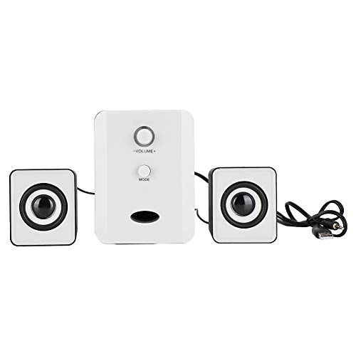 Agatige SADA D-201 Mini USB Bluetooth Speaker,with Subwoofer Bass Player for Laptop Computer Tablets Phone(Black&white)