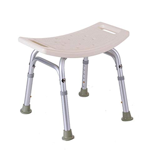 ZXY-NAN Bathroom Wheelchairs Bath Stools Bathroom Stools White Waterproof Safety Comfort Bath Chair Elderly/Handicapped/Pregnant Adjustable Height Aluminum Alloy Bath Stool Anti-Slip Chair Max. 227kg