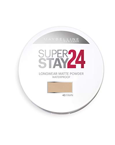 Maybelline New York - Superstay 24H, Polvos Compactos de Larga Duración, Tono 40 Fawn
