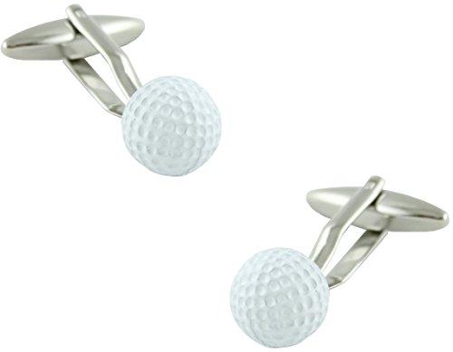masgemelos Manschettenknöpfe Golf Kugel Weiße Cufflinks