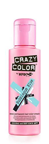 Crazy Color Bubblegum Blue Nº 63 Crema Colorante del Cabello Semi-permanente