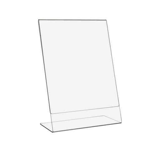 DIN A4 L-Aufsteller Hoch- und Querformat, Ständer für Papier und Plakate, Tischaufsteller, Werbeaufsteller, Thekenaufsteller, Infoschild, Präsentation aus glasklarem Acryl/Plexiglas