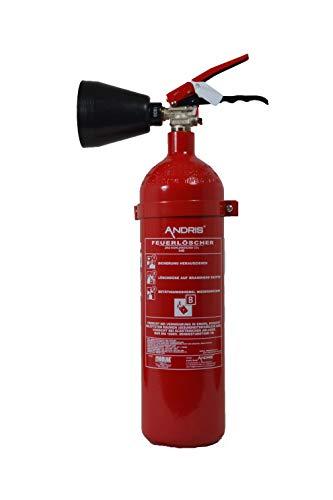 2X Feuerlöscher 2kg CO2 Kohlendioxid EDV geeignet EN 3 inkl. ANDRIS® Prüfnachweis mit Jahresmarke