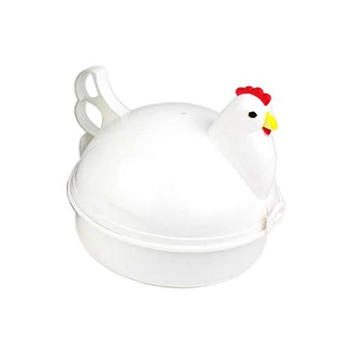 Hotaden Eierkocher Huhn geformten Kunststoff Mikrowelle Eierkocher 4 Ei-Huhn formte Dampfer, Neuheit, Haus Küchengeräte, Heimwerker Werkzeuge