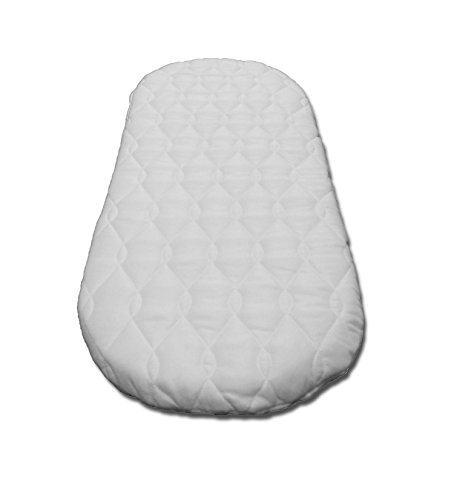 SUZY Microfibre Hypoallergenic Moses Basket Mattress 74 x 28 x 4cm Thick OVAL SHAPED : Reversible