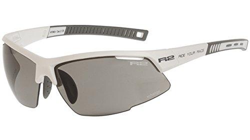 R2 Sportsonnenbrille RACER weiß + Wechselgläser