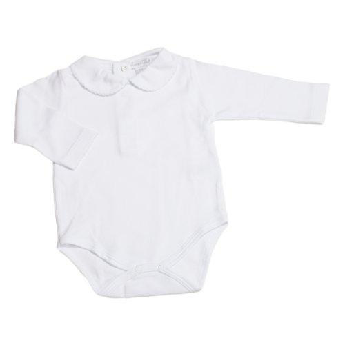 Kissy Kissy - Basic LS Bodysuit Bebe Collar - White-9mos