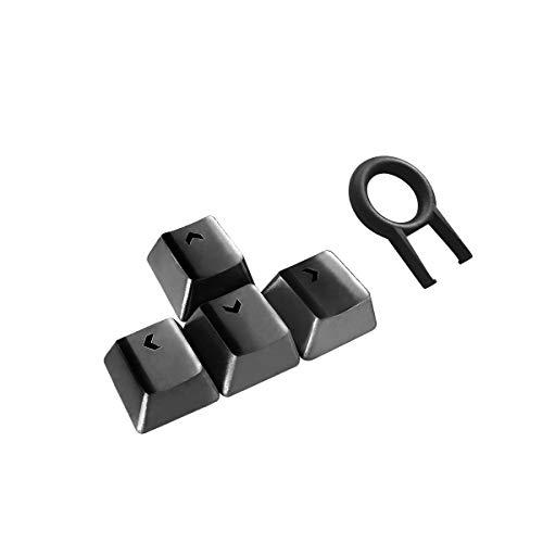Fitlink Direction Gaming Keycaps, Upgrade Gaming Keybaord Kit Edelstahl-Tastenkappen mit Hintergrundbeleuchtung, kompatibel mit mechanischer Tastatur Schwarz schwarz