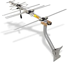TV Antenna - RCA Outdoor Yagi Satellite HD Antenna w/ 150 Mile Range (70+ Miles from Broadcast Epicenter) Attic or Roof Mount TV Antenna, Long Range Digital OTA Antenna for Clear Reception, 4K 1080P