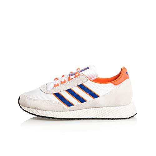 Zapatillas para Hombre Adidas Glenbuck Color Cloud White/Royal Blue/Orange Talla 42 2/3