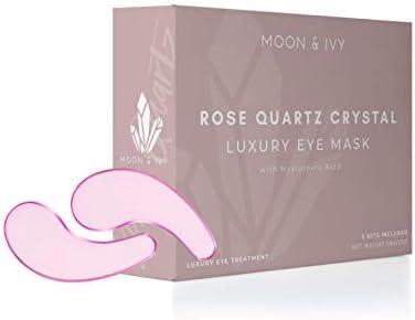Rose Quartz Crystal Eye Treatment Luxury Eye Mask with Hyaluronic Acid Collagen Rosehip Oil product image