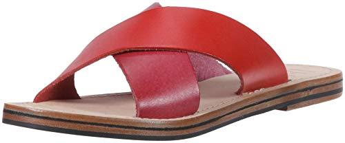 LFL by Lust for Life Damen L-mira Flache Sandale, Rot/Multi Leder, 42 EU