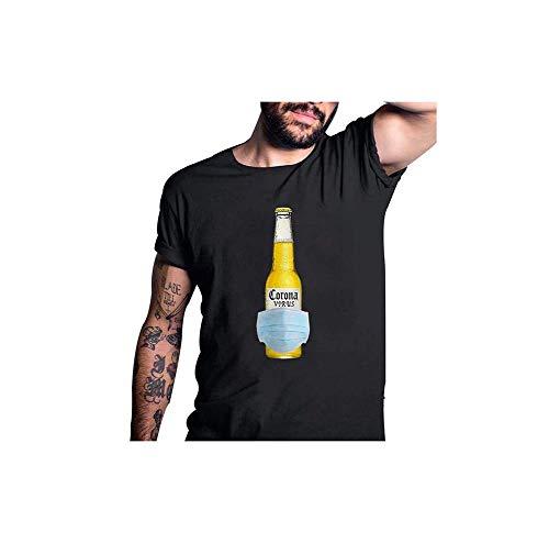 GGdjst Corona Virus camiseta divertida para beber cerveza casual cuello redondo manga...