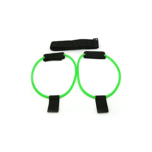 Heigmz yjd - Juego de bandas de yoga y correa para entrenamiento muscular, bandas de resistencia para glúteos, piernas, ajuste de cintura, bandas elásticas para ejercicios de pedales (color verde)