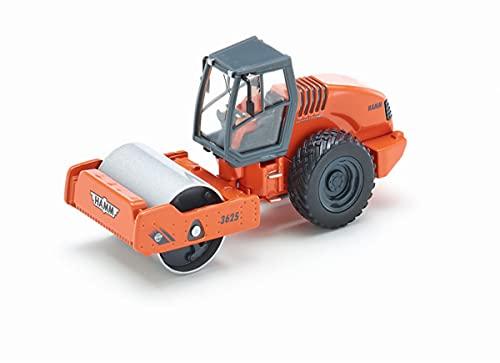 SIKU 3530 - Compacteur, 1:50, Métal/Plastique, Orange, Rouleau rotatif