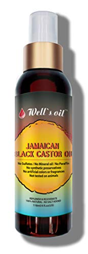 Well's Jamaican Black Castor Oil [SPRAY] Original, Peppermint, Tea Tree, Rosemary Spray 4oz INCREASE HAIR GROWTH/THICKEN HAIR THAT IS STARTING TO THIN OUT REDUCE AND PREVENT HAIR DAMAGE (PURE)