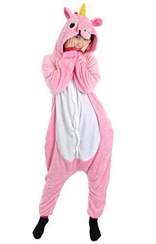CoolChange kuscheliger Einhorn Jumpsuite, Pink, Größe: L
