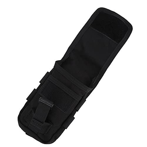 Qqmora Bolsa Negra Duradera para teléfono móvil EDC, Ligero, 1000D, tácticas, Paquete Colgante EDC, para Actividades al Aire Libre, para cámaras(Black, 4 Inch)