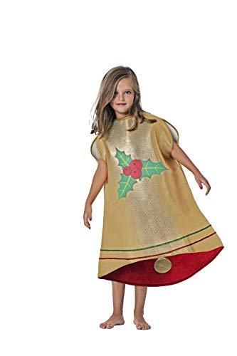 Costumizate! Disfraz de Campana Talla 7-9 Especial para Navidad