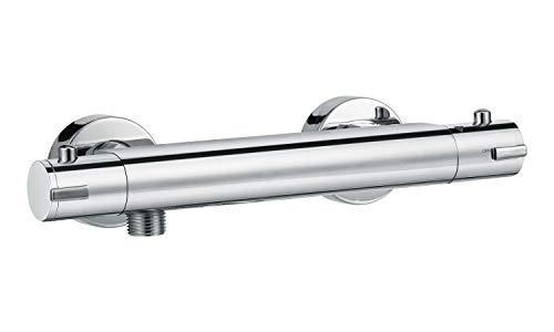 Badplaats B.V. Grifo de Ducha termostático Funen Cromae Baño Grifo Baño de Ducha