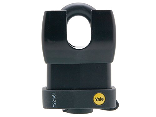 Yale Y221/61/130/1 Weatherproof Closed Shackle Padlock, 61mm, Pack of 1, Suitable for Outdoor use