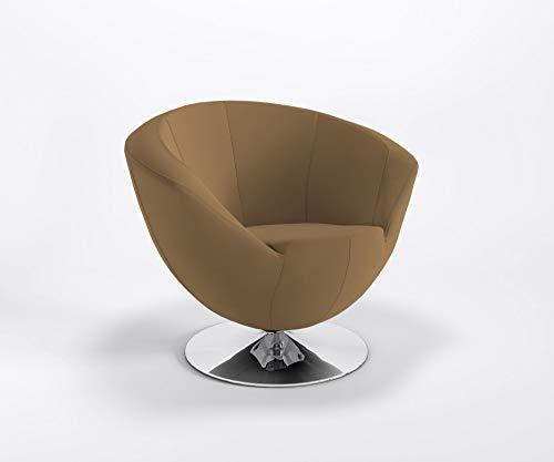 Marbet Style clubstoel ONLY Plus discovoet barstoel bureaustoel hotel kunstleren bekleding Valencia V0034 - taupe