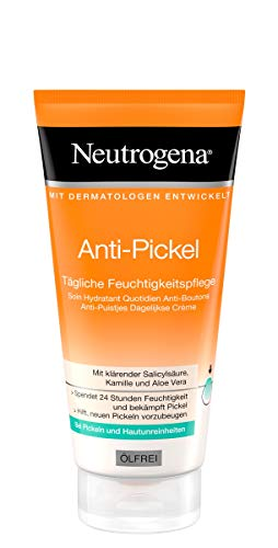 Neutrogena Visibly Clear Tägliche Feuchtigkeitspflege Ölfrei – Klärende Feuchtigkeitscreme mit Salicylsäure für das Gesicht für Tag und Nacht – 1 x 50ml