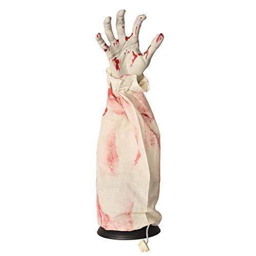 catyrre Halloween Geisterhand, Stimme-gesteuerte Elektrische Scary Ghost Hand, für Halloween Lawn Garden Haunted House Props Holiday Party Dekoration