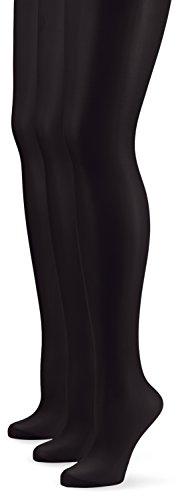 Nur Die Damen Strumpfhose 726969/3er Pack Seidenfein, 15 DEN, Gr. 40 (Herstellergröße: S (38-40)), schwarz (schwarz 094)