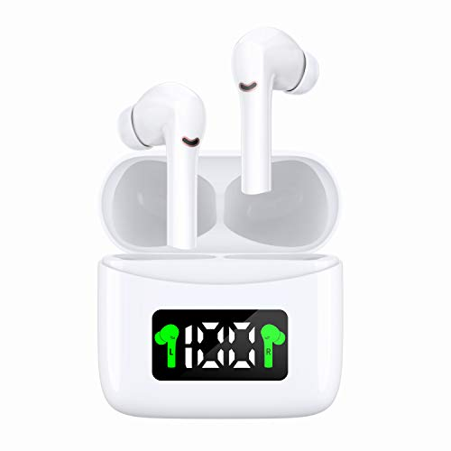 Wireless Earbuds, Latest Upgrade Bluetooth 5.2 True Wireless Earbuds with Smart LED Display Charging Case IPX7 Waterproof Earbuds 40 Hours Playtime Bluetooth Earbuds Built-in Mic for Sport,Running