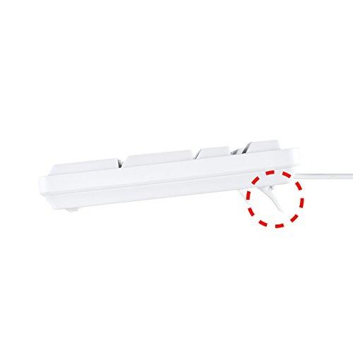『サンワサプライ 有線USBキーボード 標準日本語配列 メンブレン ホワイト SKB-L1U』の6枚目の画像