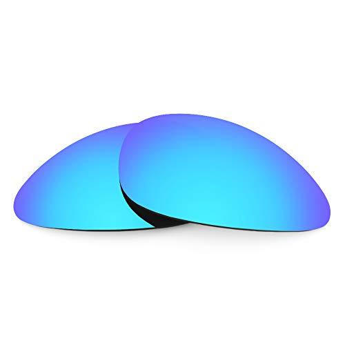 Revant Verres de Rechange Compatibles avec Oakley Scar, Polarisés, Bleu Glacier MirrorShield