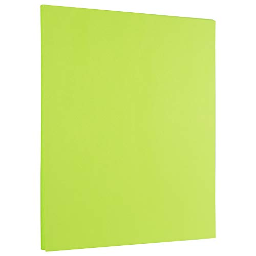 JAM PAPER Colored 24lb Paper - 90 gsm - 8.5 x 11 - Ultra Lime Green - 50 Sheets/Pack