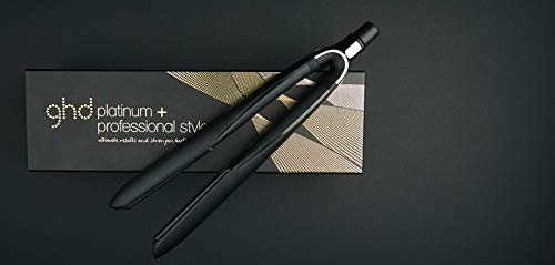GHD - Plancha para cabello Platinum+ Black Styler Ultra Zone con tecnología predictiva, color negro