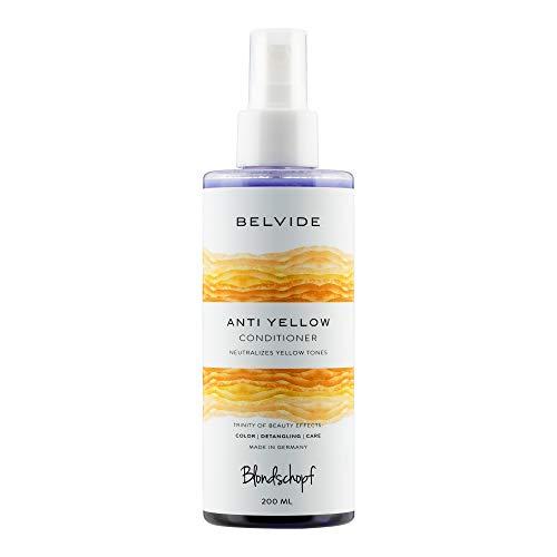 BLONDSCHOPF ANTI-YELLOW SPRÜHKUR | Neutralisiert unerwünschte Gelbtöne | Purple Conditioner Spray - keine lila Hände wie bei Silber Shampoo oder Spülung (200ml)