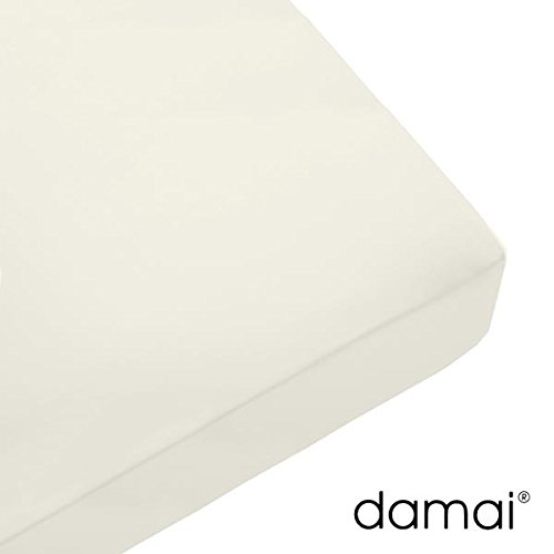 Damai Damai Nightkiss Topper hoeslaken wolwit - 9-15cm met elastiek - 160 x 210 cm 100% katoen