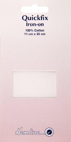 Hemline QuickFix Baumwollpatch für Reparatur, Weiß