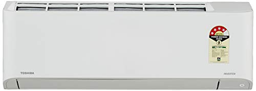 TOSHIBA 1.5 Ton 4 Star Inverter Split AC (Copper, RAS-18BKCV-IN+RAS-18BACV-IN, Gloss White)