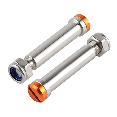 ZHANGJINYAN Pasos de reposapiés Piezas DE Pieza Pedal Pino Ajuste para SX SXF EXCV XC XCW Husqvarna HUSABERG Beta Yamaha 125 150 200 250 350 450 (Color : Orange)