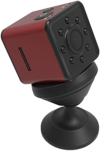 Mini Sports Dv 1080P HD Cámara de acción videocámara con 155 grados de gran angular compatible con WiFi Monitoreo HD visión nocturna Tv-Out 30M impermeable negro JIADUOBAO (Color: Rojo)